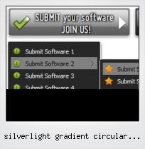 Silverlight Gradient Circular Button Arrow