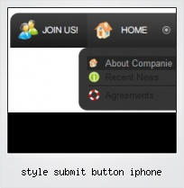 Style Submit Button Iphone