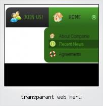 Transparant Web Menu
