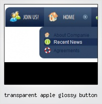 Transparent Apple Glossy Button