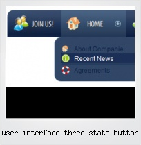 User Interface Three State Button