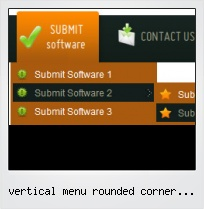 Vertical Menu Rounded Corner Buttons