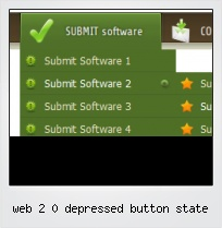 Web 2 0 Depressed Button State
