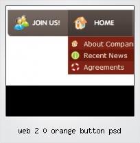 Web 2 0 Orange Button Psd