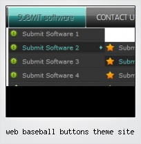 Web Baseball Buttons Theme Site