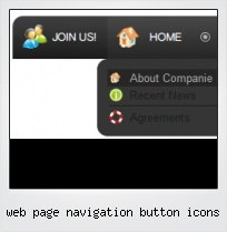 Web Page Navigation Button Icons