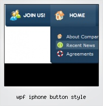 Wpf Iphone Button Style