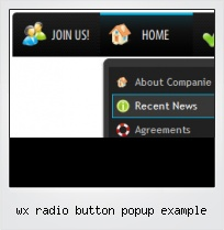 Wx Radio Button Popup Example