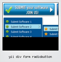 Yii Div Form Radiobutton