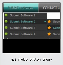 Yii Radio Button Group