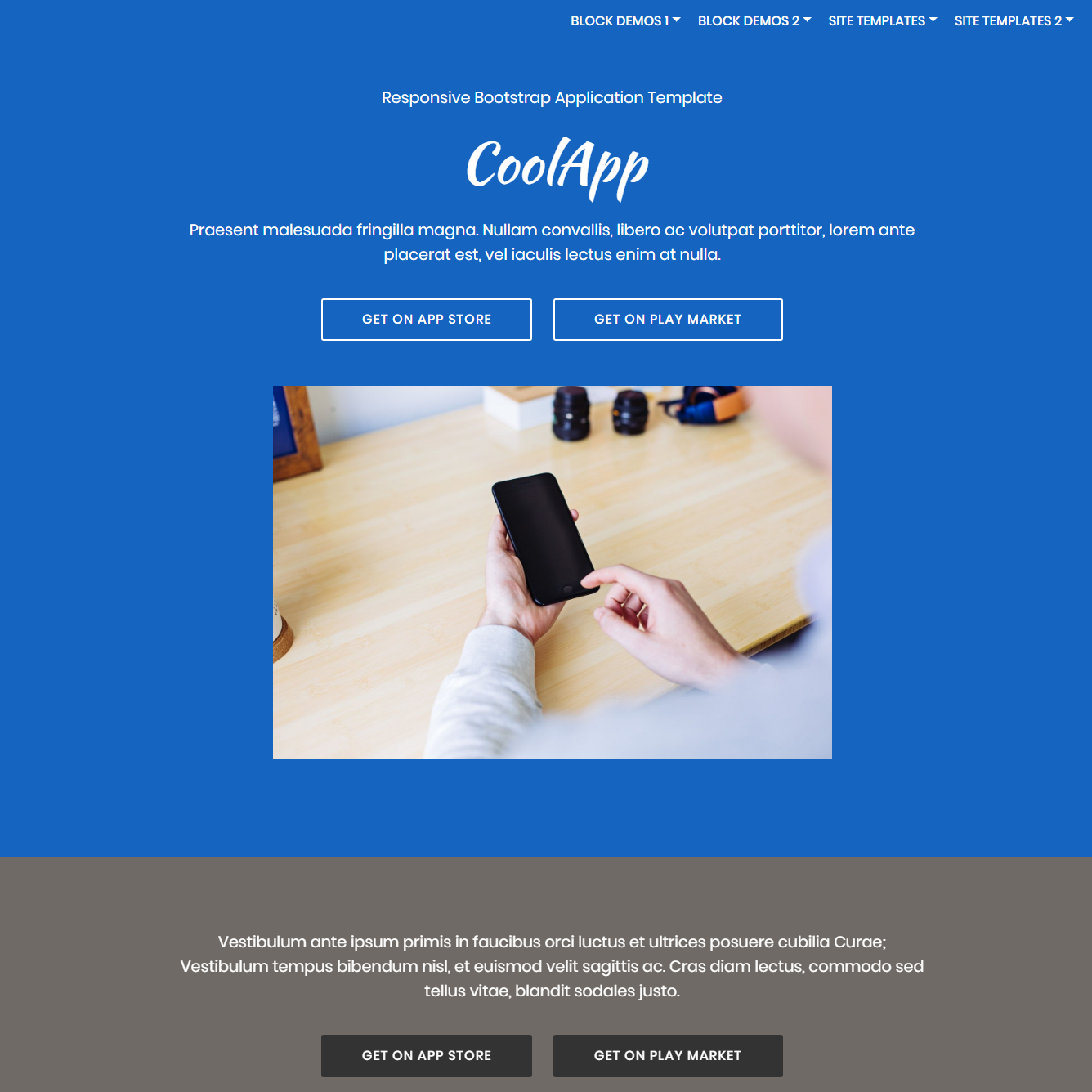 CSS3 Bootstrap Application Templates