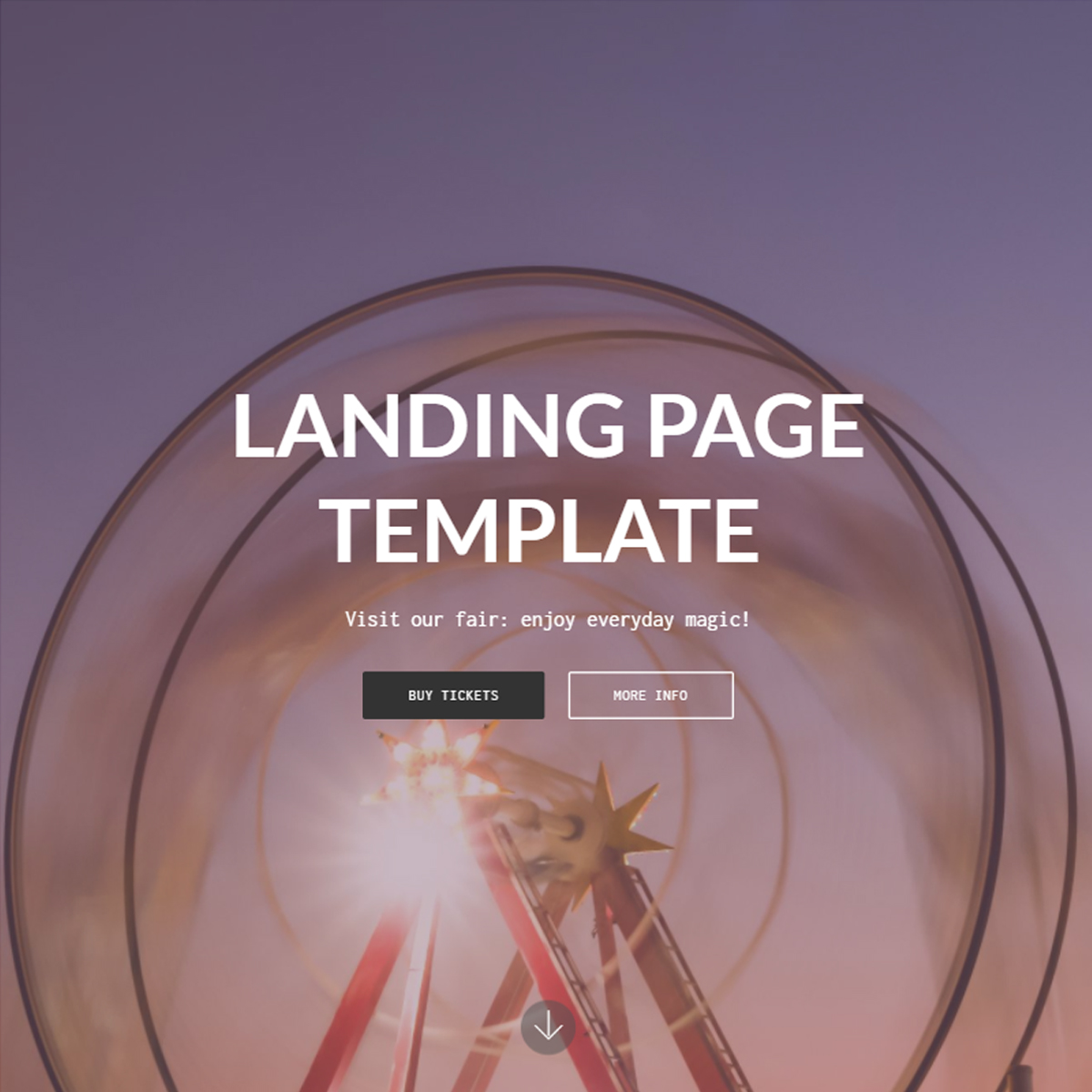 HTML Bootstrap Landing Templates