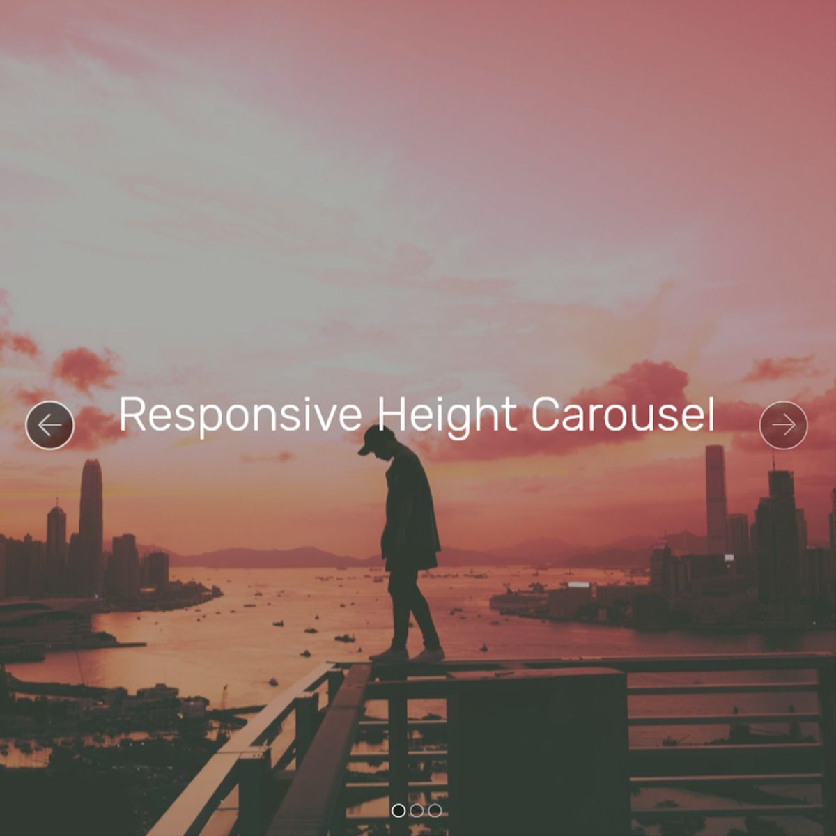 Responsive Bootstrap Picture Carousel