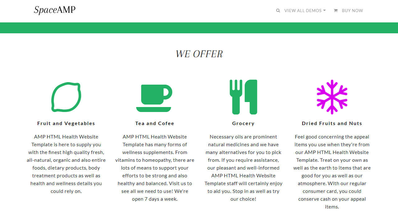 AMP Health HTML Template