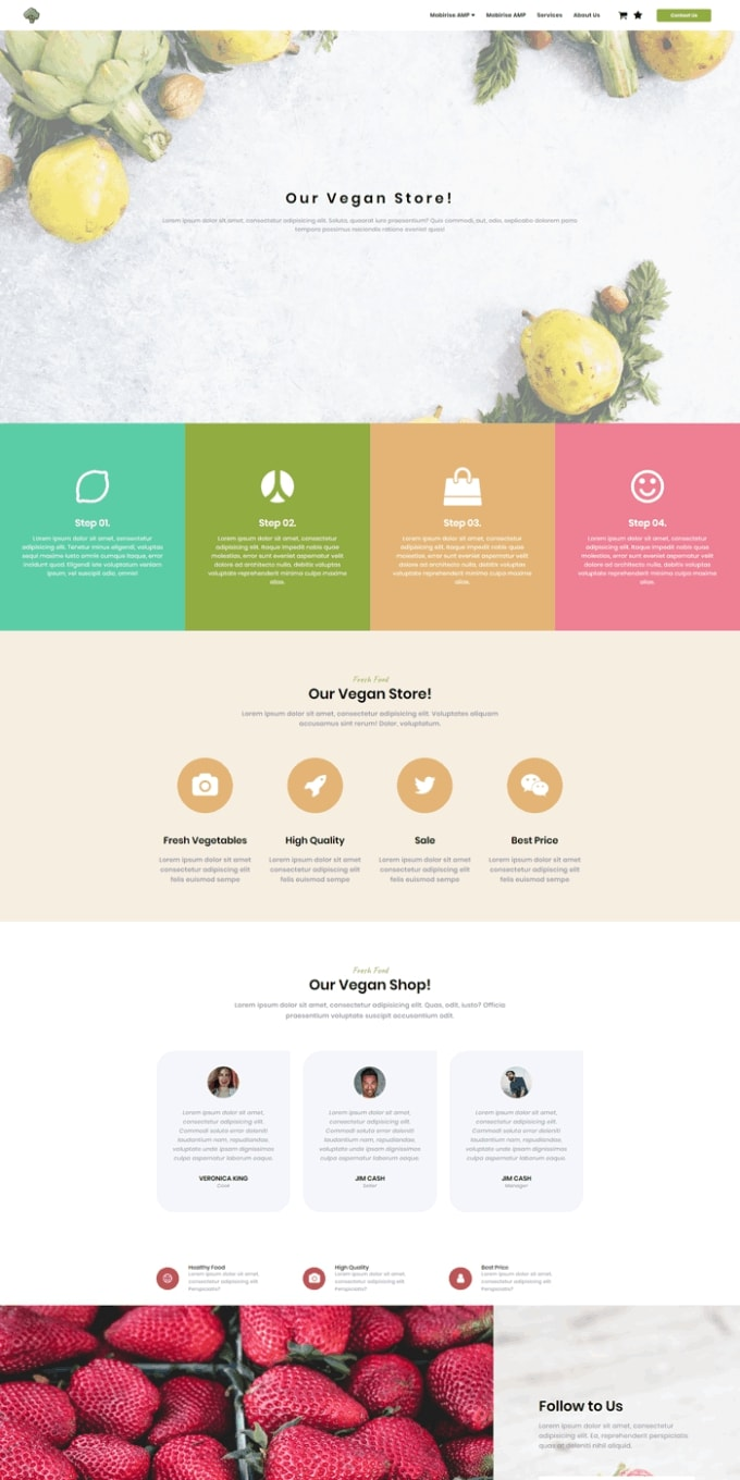 Vegan Store Simple Website Template