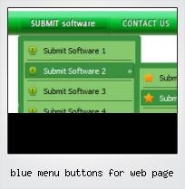 Blue Menu Buttons For Web Page