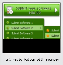 Html Radio Button With Rounded