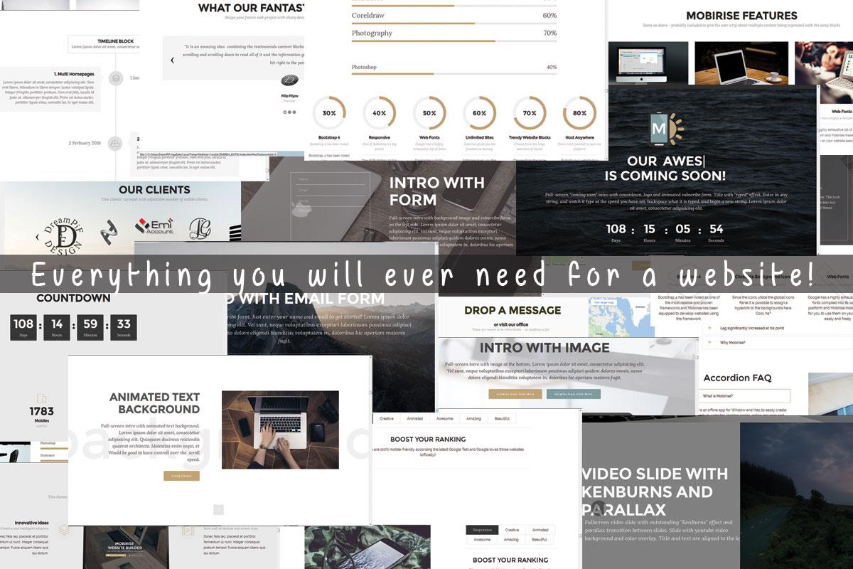 HTML5 Responsive Site Builder Software