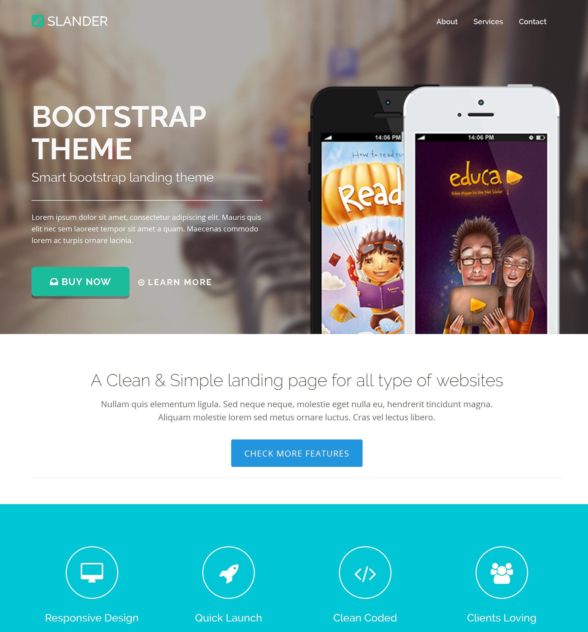 HTML Bootstrap Minimal Theme