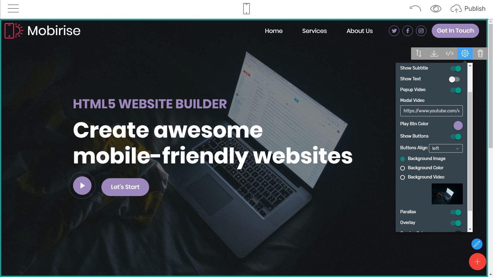 mobile page layouts