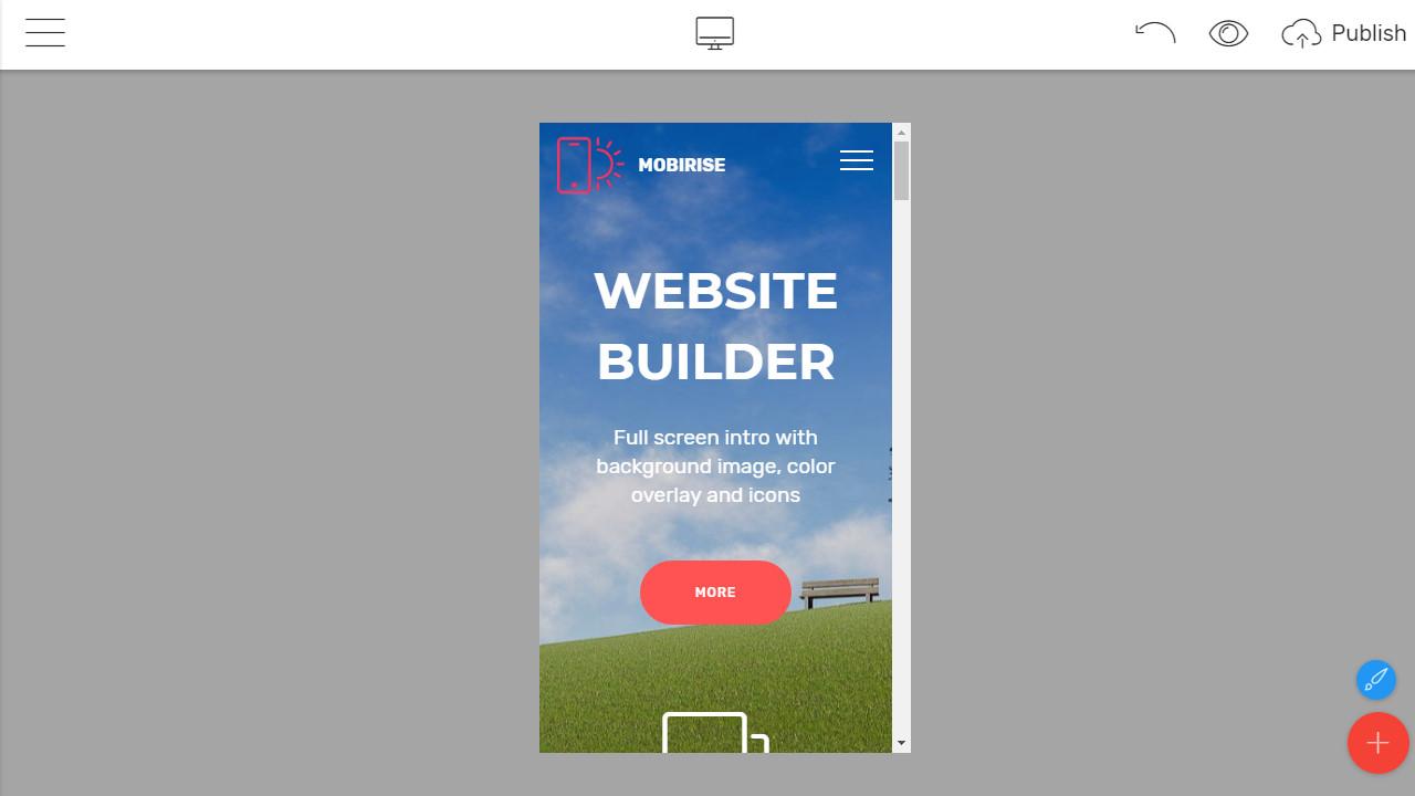 Mobile Bootstrap Builder